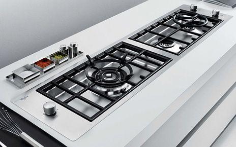 whirlpools designer filo gas cooktops grates