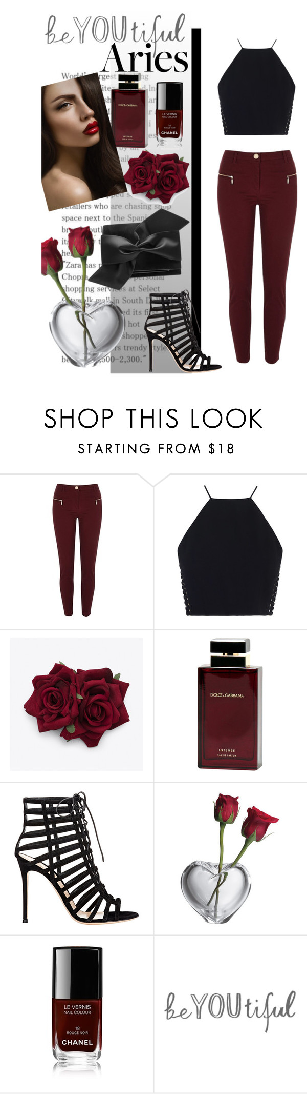 """Aries-fashion horoscope!"" by vicky164 ❤ liked on Polyvore featuring River Island, Zimmermann, Dolce&Gabbana, Gianvito Rossi, Simon Pearce, Chanel, Victoria Beckham, fashionhoroscope and stylehoroscope"