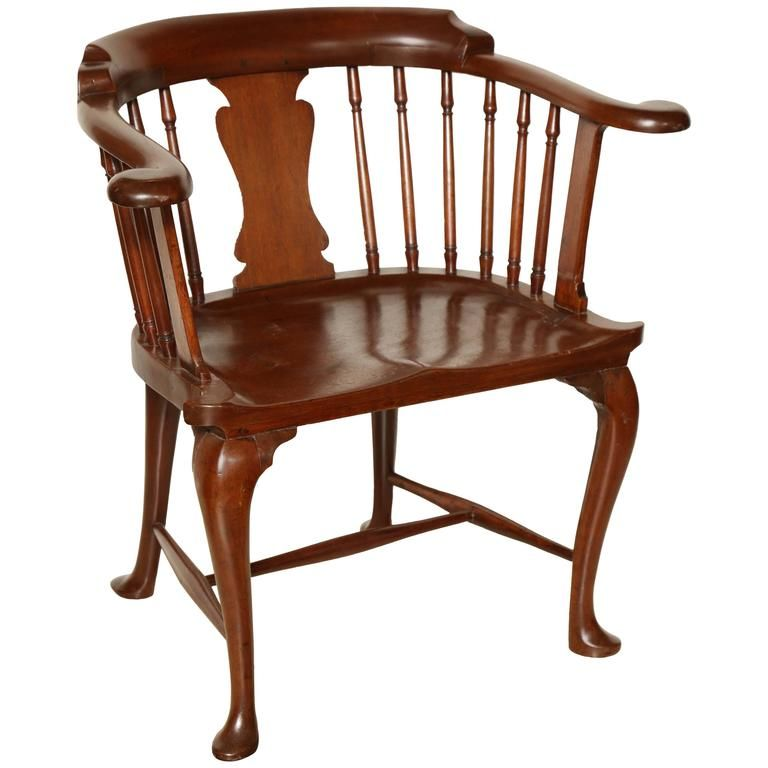 Old Fashioned Furniture For Sale: 1stdibs Mahogany Captain British Colonial English Armchair