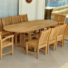 Anderson Teak Sahara 10-Person Teak Patio Dining Set | patio table ...