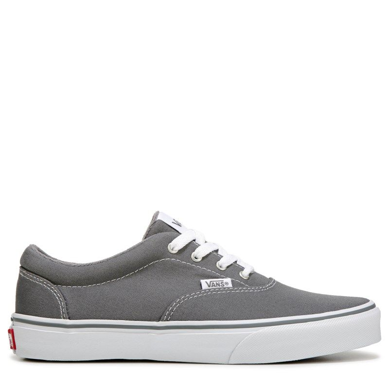 f3e94924b9b3 Vans Kids  Doheny Low Top Sneaker Pre Grade School Shoes (Grey White ...