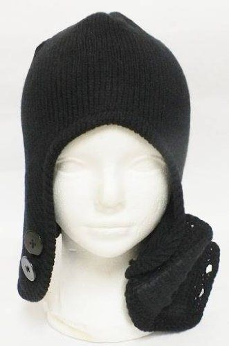 f880aabef4d Full Face Black Hat With Mouth Cover mask winter by US HATS.  6.29. the hat  made from Acrylic.
