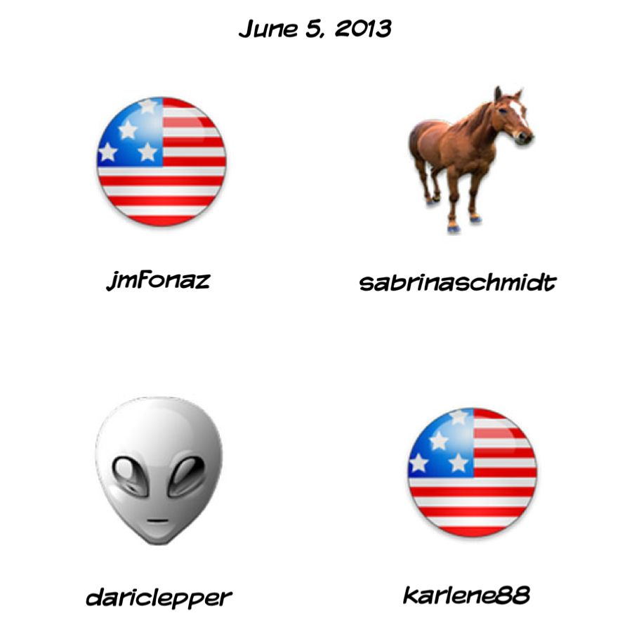 Here are the 6-5-2013 Daily Sweepstakes winners!  Congrats!