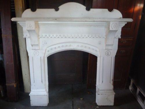 Antique Victorian Fireplace Mantle Circa 1880 Eastlake