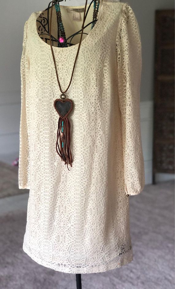 Authentic Louis Vuitton handmade fringed heart necklace ...