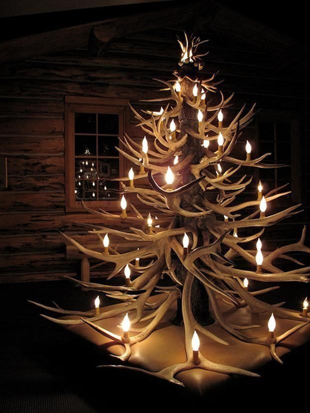 Stunning Christmas Tree Decorating Ideas Antler Christmas Tree Unusual Christmas Trees Contemporary Christmas Trees