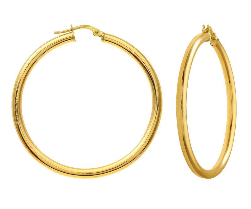 Gold Hoop Earrings | Gold Jewelry | Pinterest | Gold hoops, Gold ...