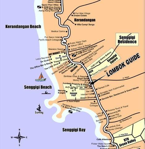 Wisata Lombok Peta Tempat Wisata Senggigi Lombok Ayo Ke