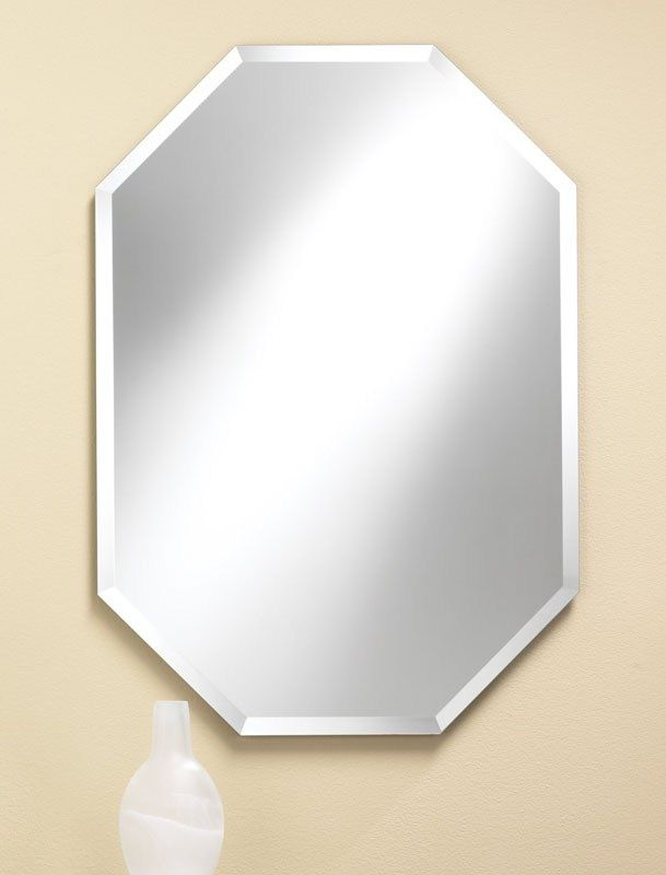 314 Octagon Frameless Mirror Features 1 Beveled Edge 24 Wide 32 High And 3 8 Deep