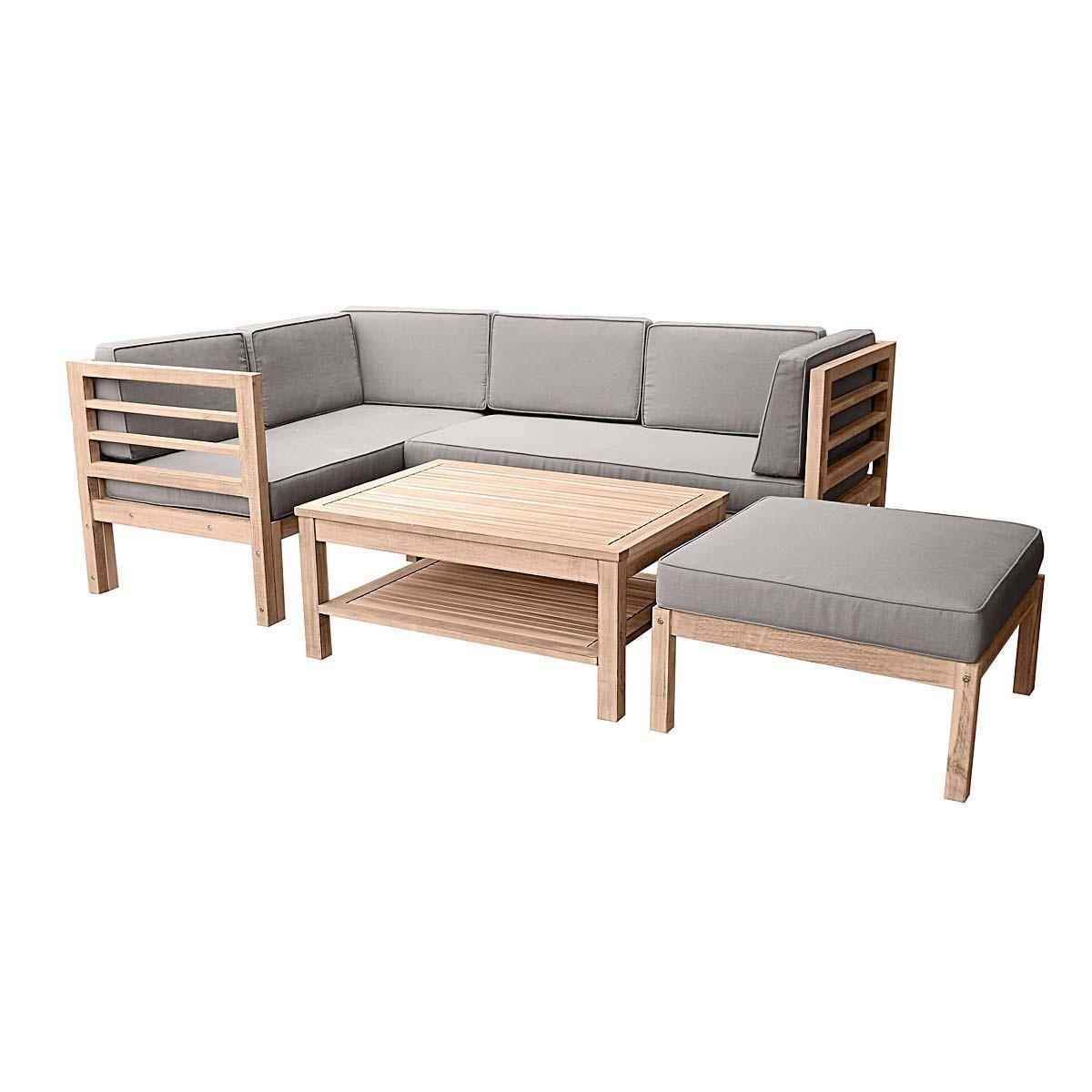 Gartenmöbel Set Variabel, 3 tlg., inkl. Auflagen, Holz Jetzt