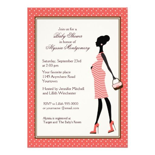Pregnant woman silhouette baby shower invitation woman baby shower pregnant woman silhouette baby shower invitation filmwisefo Images
