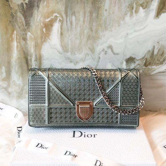 e5474b712f29 Dior Handbags - DIOR Metallic Multi Micro Cannage Diorama WOC ...