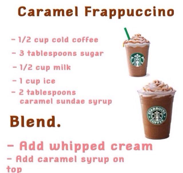 How To Make A Home Made Caramel Frappé From Starbucks In