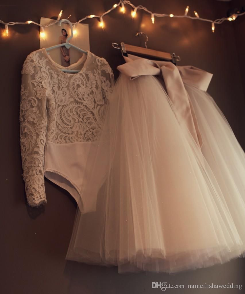 Champagne ball gown baby flower girls dresses for weddings prom lace champagne ball gown baby flower girls dresses for weddings prom lace long sleeve cheap tulle little kids first communion skirt two pieces little girls izmirmasajfo Images