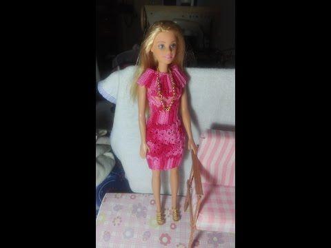 Vestido De Crochê 11 Para Boneca Barbie E Similares Youtube