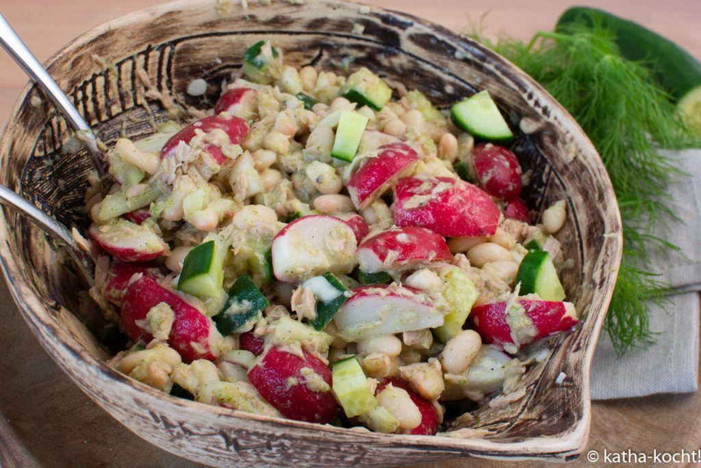 Radieschen-Thunfischsalat mit weißen Bohnen - Katha-kocht!