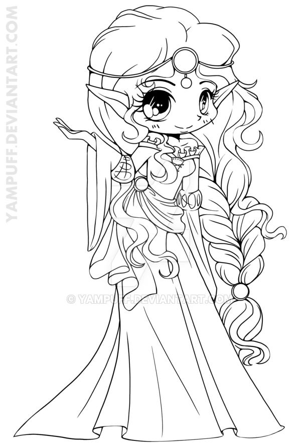 Scottish Elf Princess Lineart by YamPuff | 00 | Pinterest | Elves ...