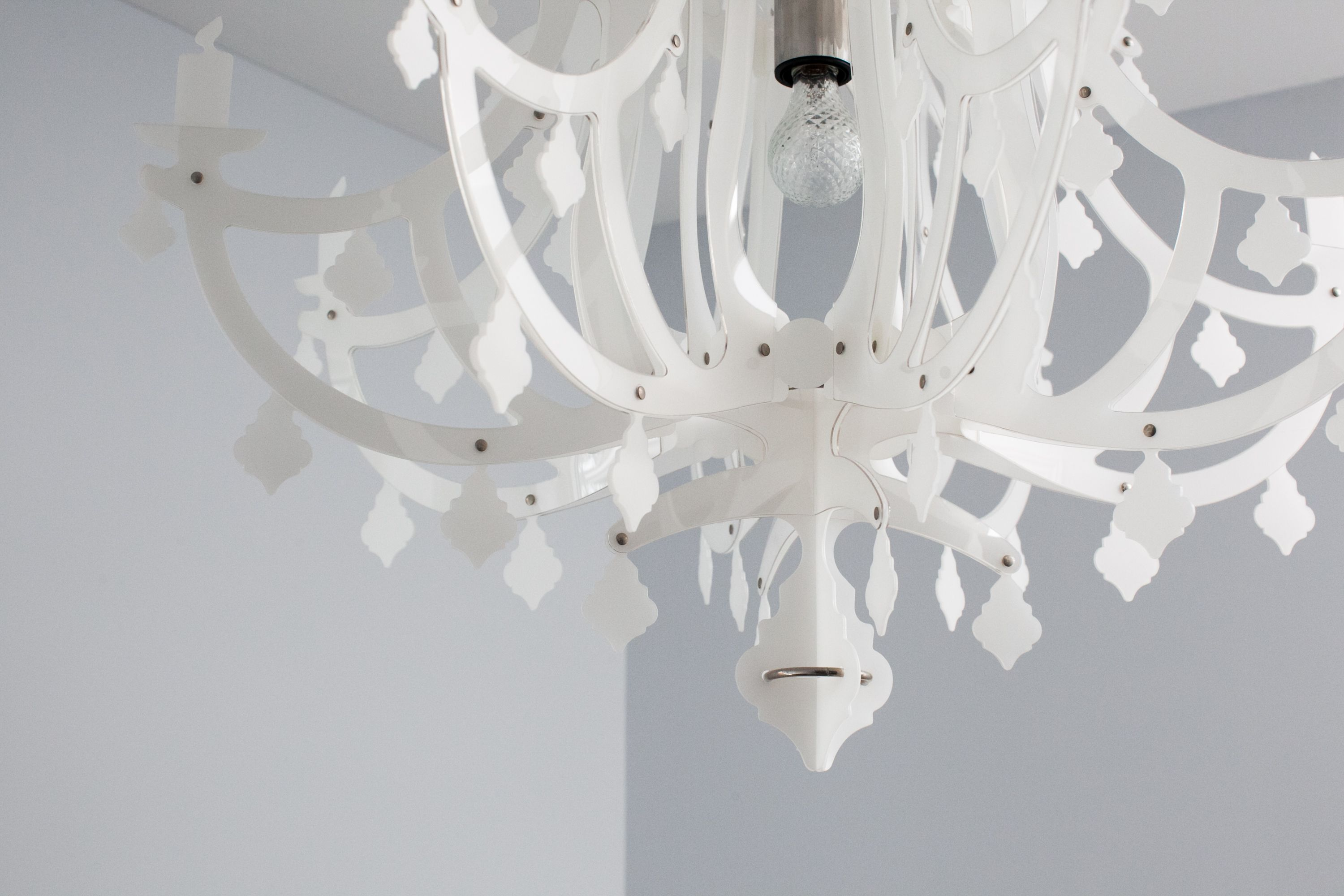 new arrival b8fc7 fa6a9 White plastic chandelier from Italy | Black, White, Grey ...