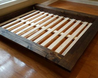 Solid Wood Platform Bed Frame Low Profile By Peacelovewood