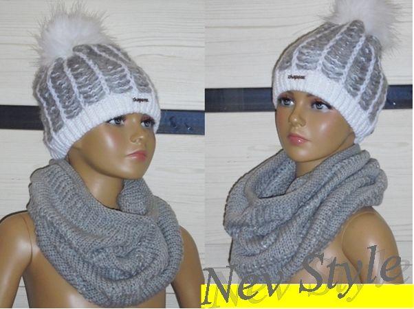 Uniwersalny Komplet Czapka Komin Szal Prezent 6627346612 Oficjalne Archiwum Allegro Winter Hats Crochet Hats Fashion