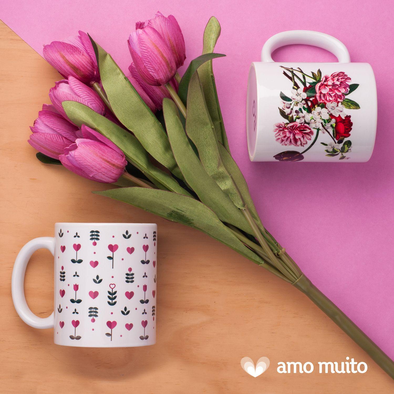 Novas canecas fofas da Amo Muito! <3  #caneca #fofa #divertida #mug #cafe #cha #flores #canequinha