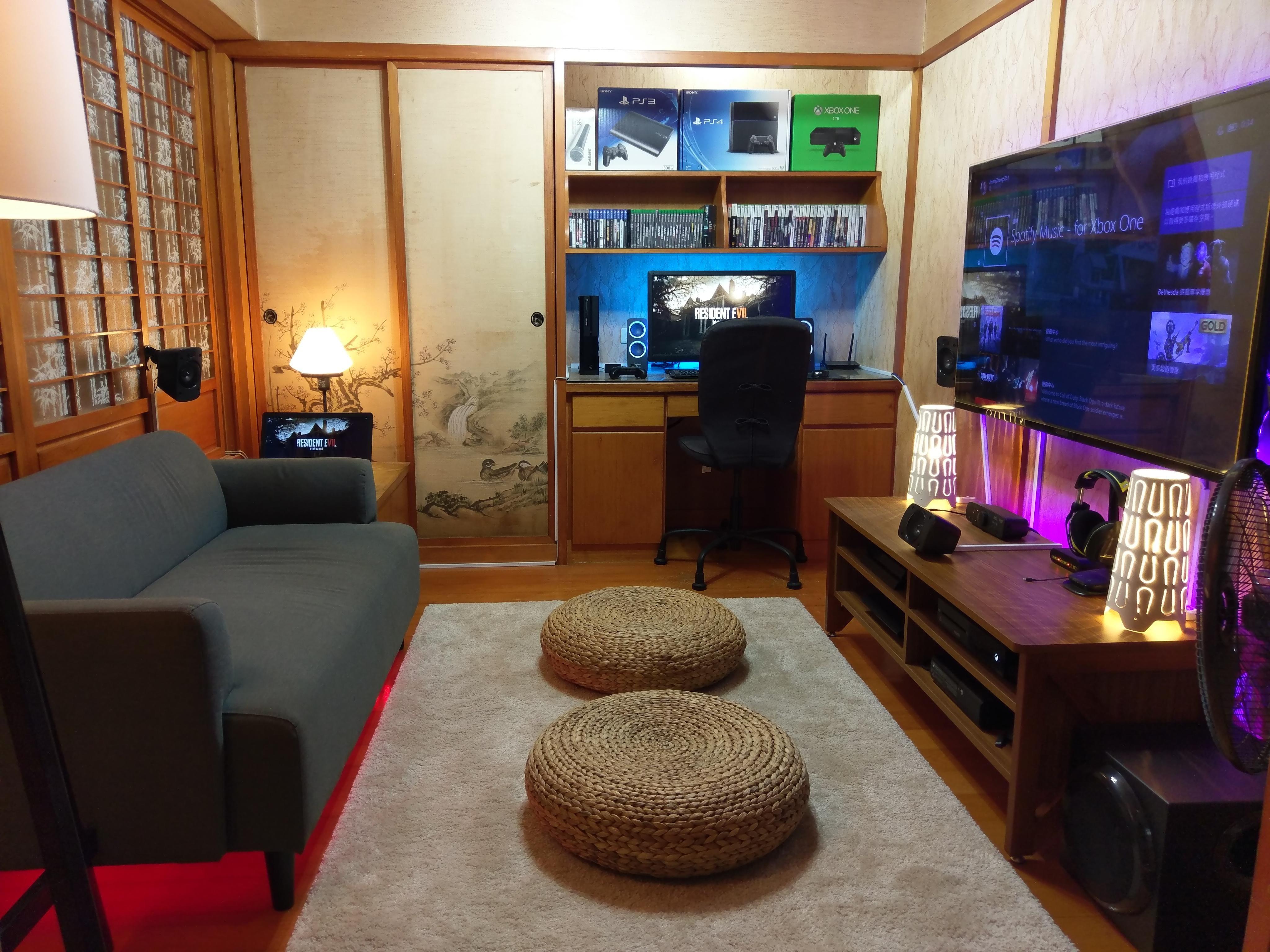 My Japan Style Gaming Setup Living Room Gaming Setup Gaming Setup Livingroom Layout #pc #gaming #in #living #room