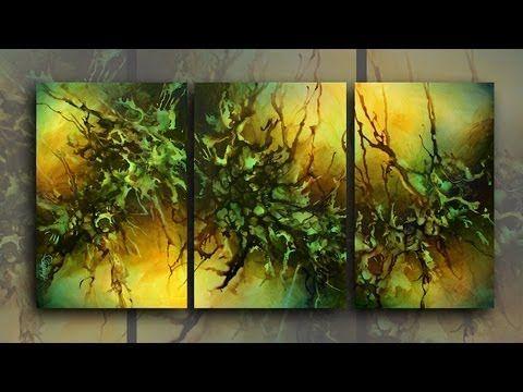 Abstract Painting Demonstration Mix Lang Art