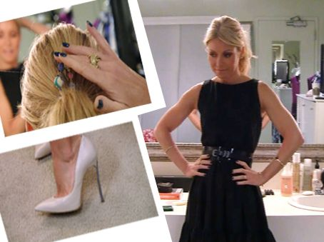 Kelly Ripa 3-12-12FF | Dress: Red Valentino Jewelry: House of Harlow Heels: Casadei #FashionFinder