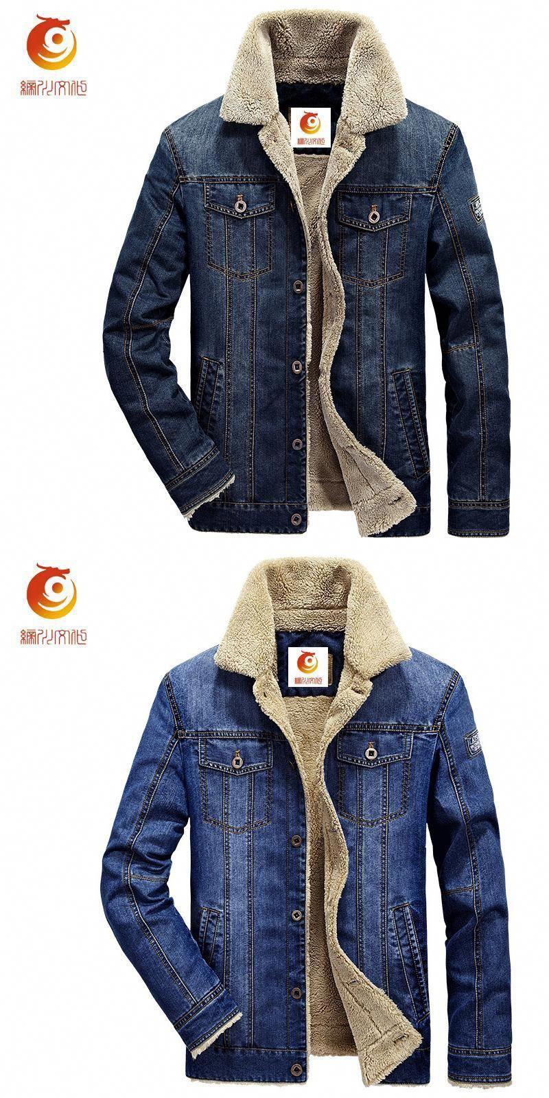 85f4845369 Denim Jacket Fur Collar Men 2017 Winter Retro Warm Denim Jackets Thick Wool  Men Outwear Fashion Mens Jeans Jacket Cowboy Coats  MensJeans