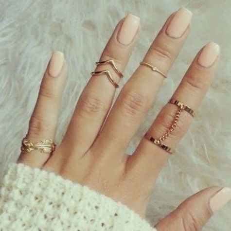 Trendy Stylish Cute Ring Set Fashion Rings Gold Ring Sets