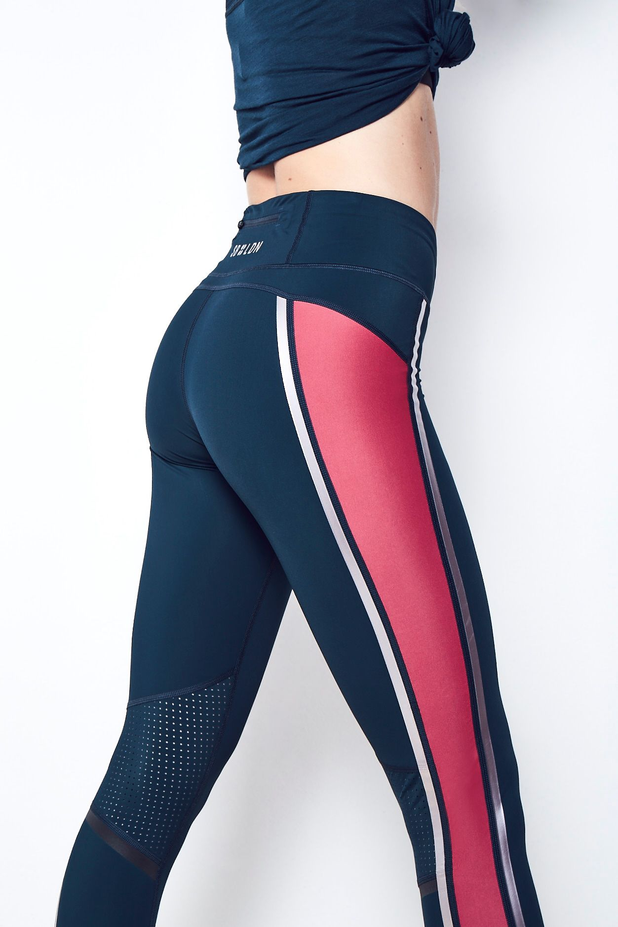 03cc3ad7378a2 Zero Gravity Run Leggings. Bum-sculpting. You bet your ass. Meet the Zero  Gravity Leggings in colour block with the perfect mix of compression and  stretch ...