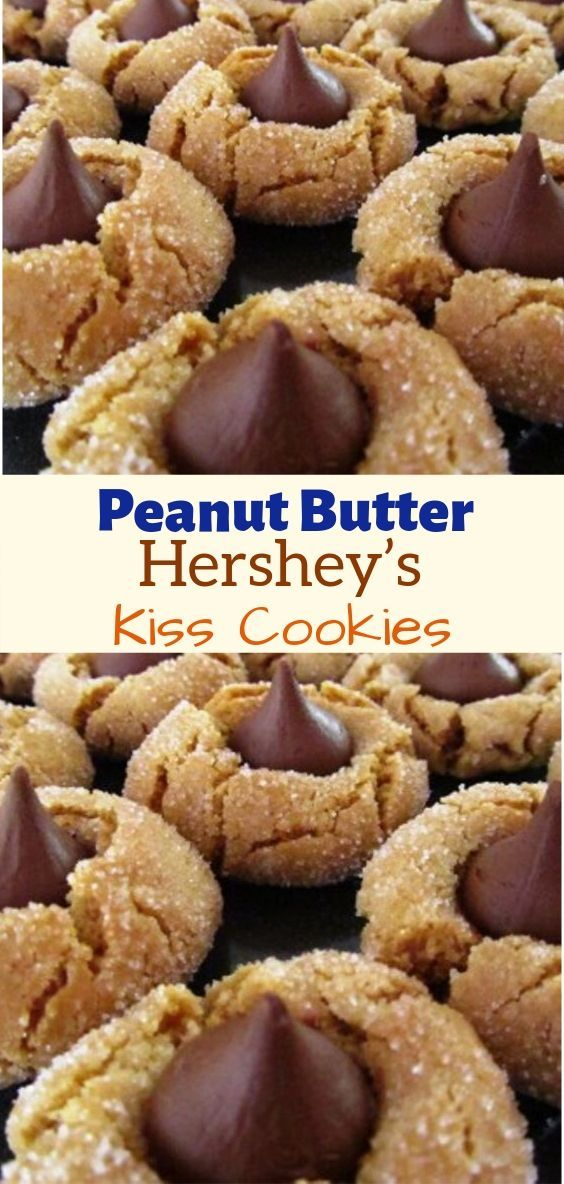 Peanut Butter Hershey's Kiss Cookies