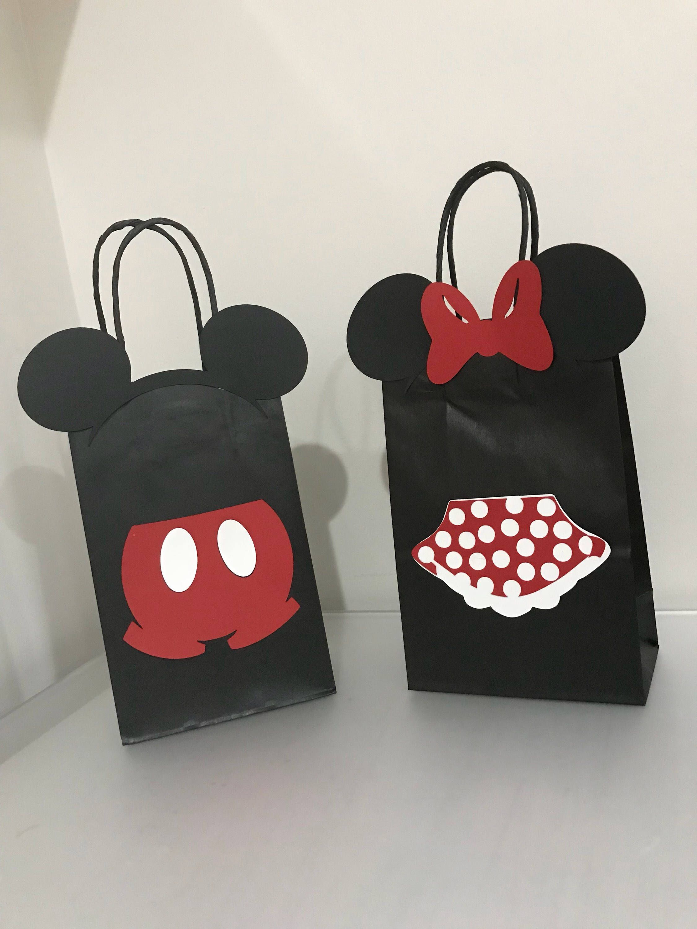 Mickey Mouse Favor Bags Birthday Party Disney Decorations Treat Candy Goo In 2018