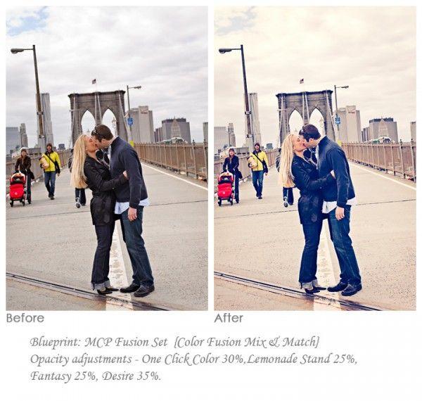 Editing engagement photos