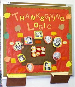 Interactive Thanksgiving Math Bulletin Board Idea