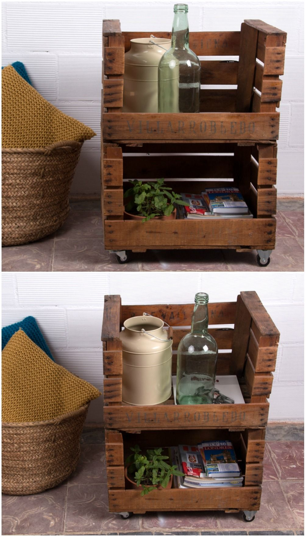 Estanter a con cajas de fruta cajas de fruta antiguas - Estanterias con cajas de fruta ...