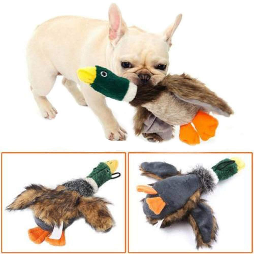Glumes Dog Toy Duck Shape Plush Squeaky Giggle Toys Dog Toys To