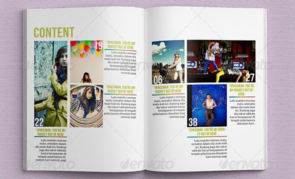InDesign-Magazine-Template-01 | Graphic Design Examples | Pinterest ...