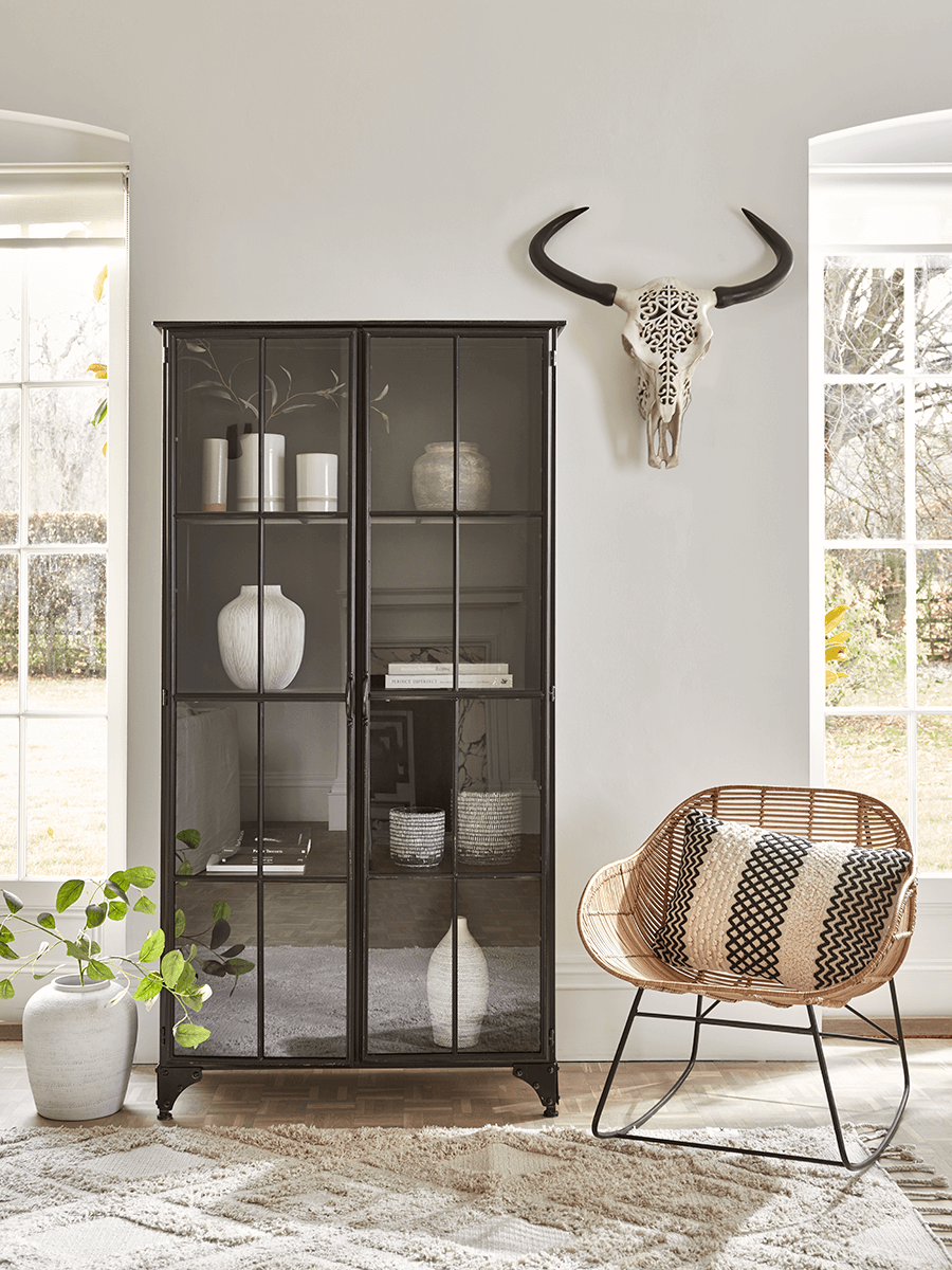 Black Iron Display Cabinet - Tall in 2020 | Living room ...