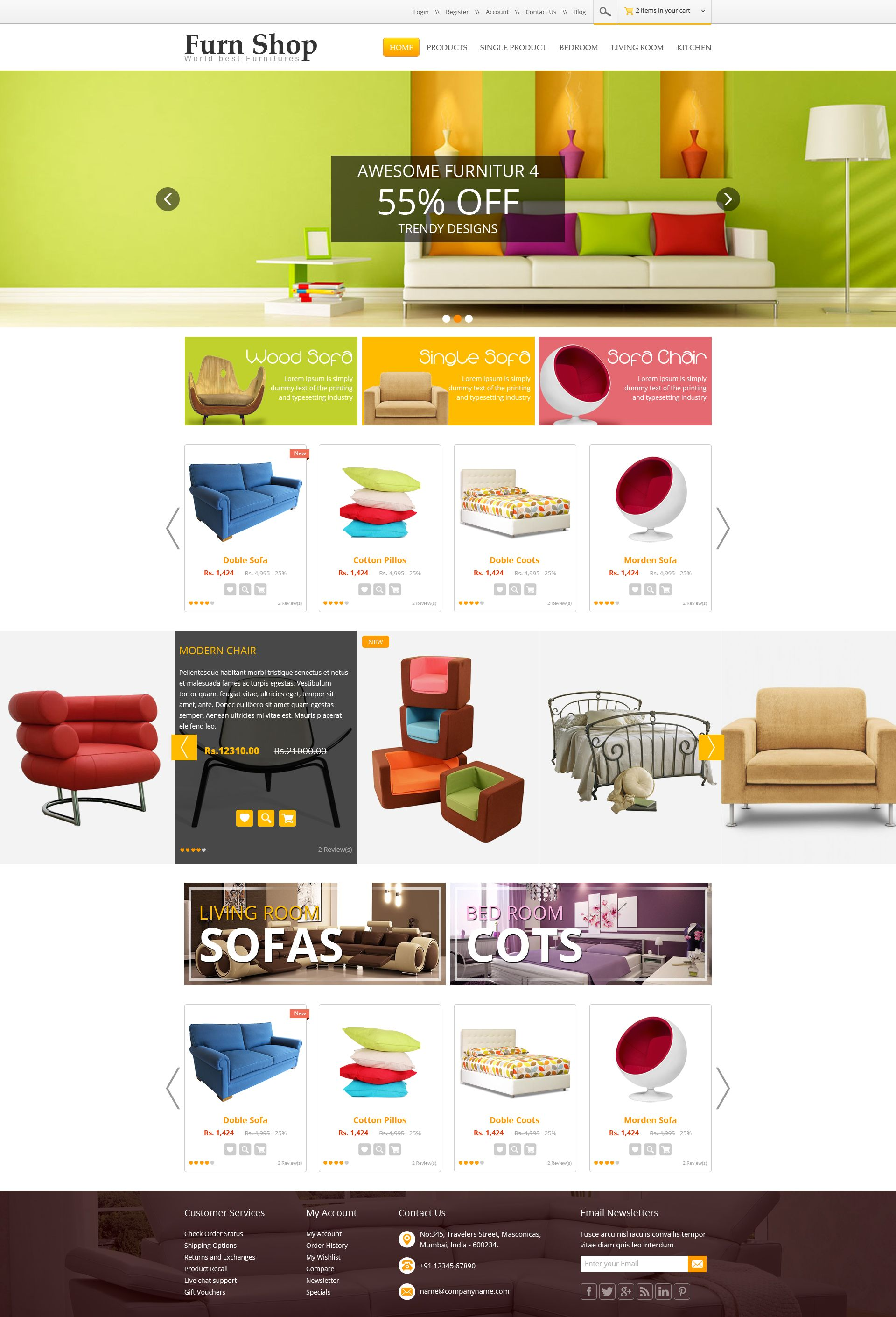 Design Your Own Living Room Free: Furn Shop Theme. Sell365 India's Best Online Store Builder