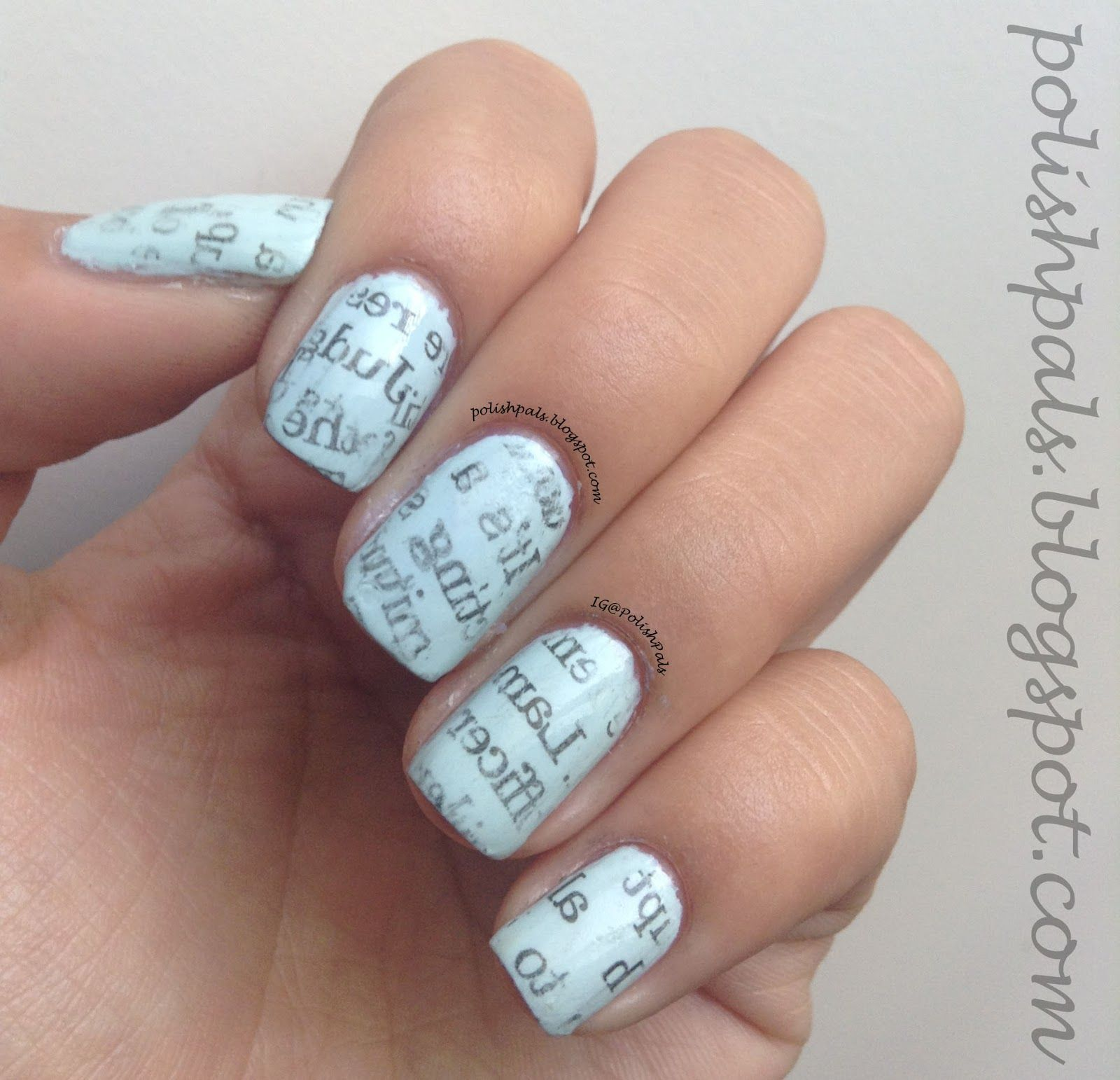 I\'ve done this before they\'re called newspaper nails. paint you ...