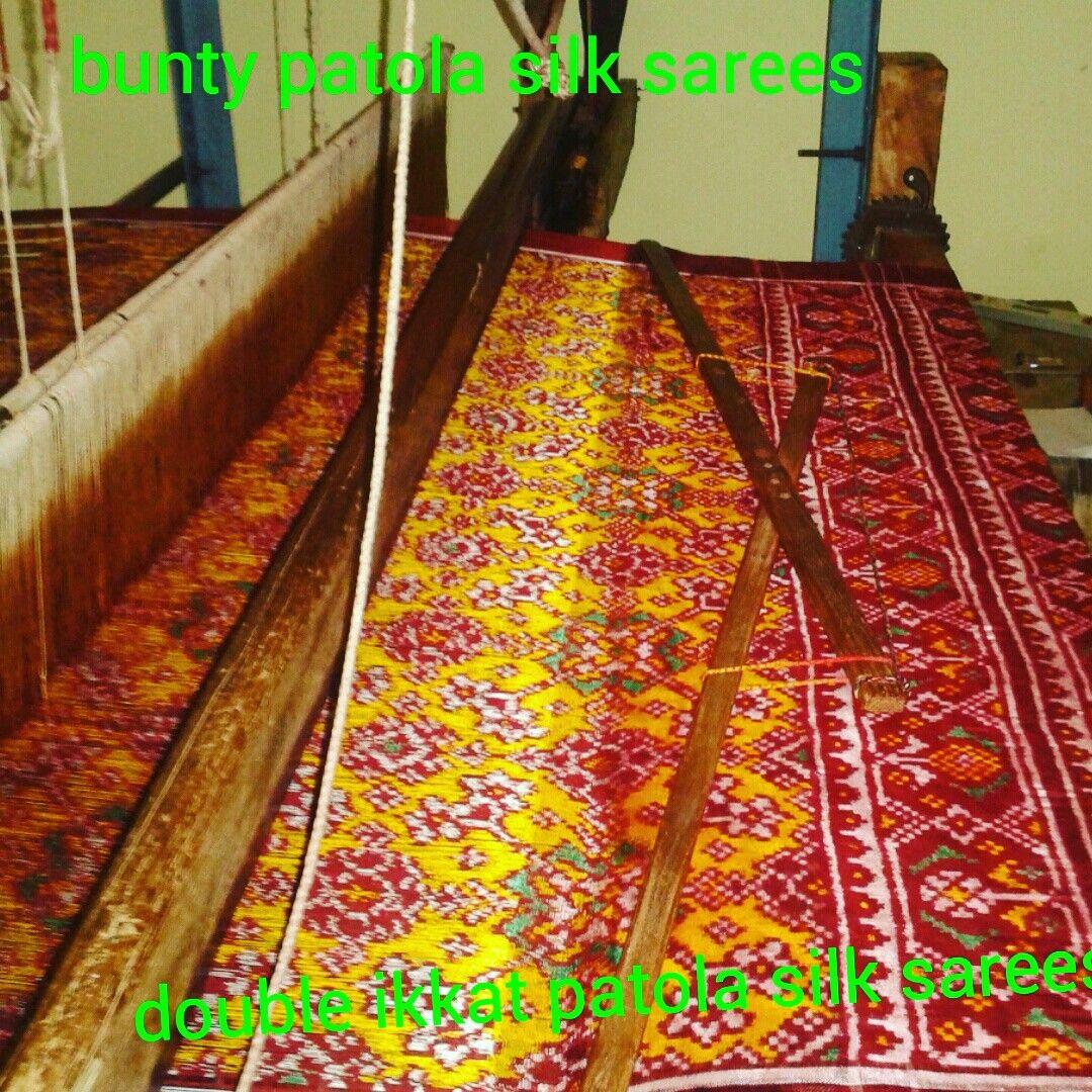 + 919374119680 WhatsApp #handloom #bridal #fashion #unique #rajkotpatola #gujarati #purepatola #ikkatart #heyshop #handicraft #kutir#