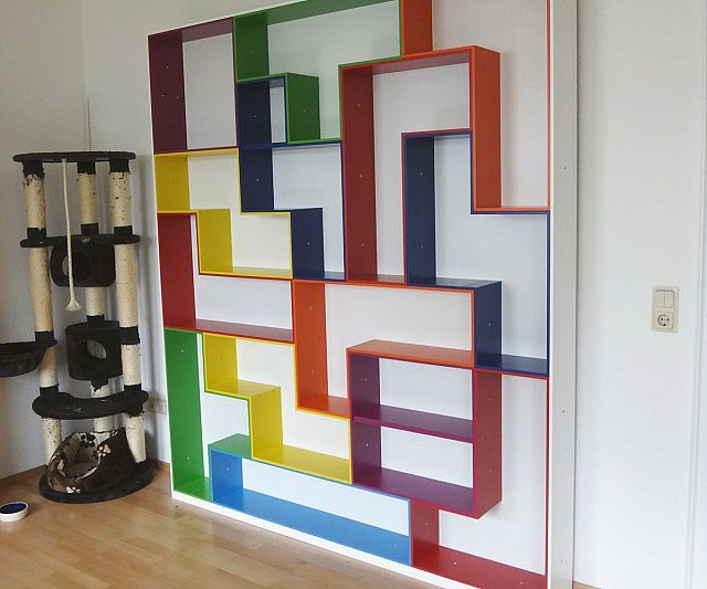 Superb Tetris Shelving, A Geeky Display And Storage Solution. Modern Take On  Vintage Shelving  Love! Amazing Pictures
