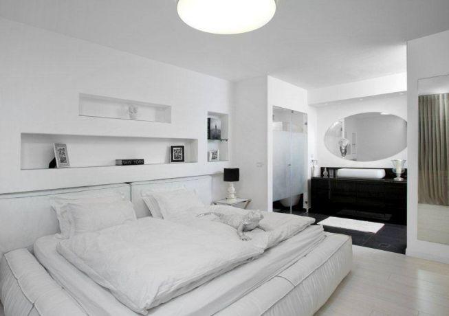 - חדר שינה בפרוייקט בגן חיים בעיצוב אמיר שלח