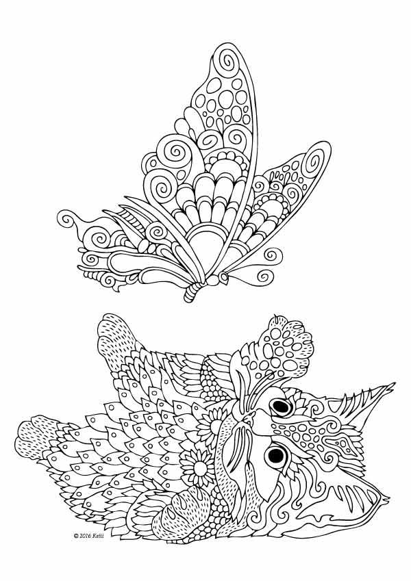 Koka 30 Cats Dogs Coloring Pages For Adults
