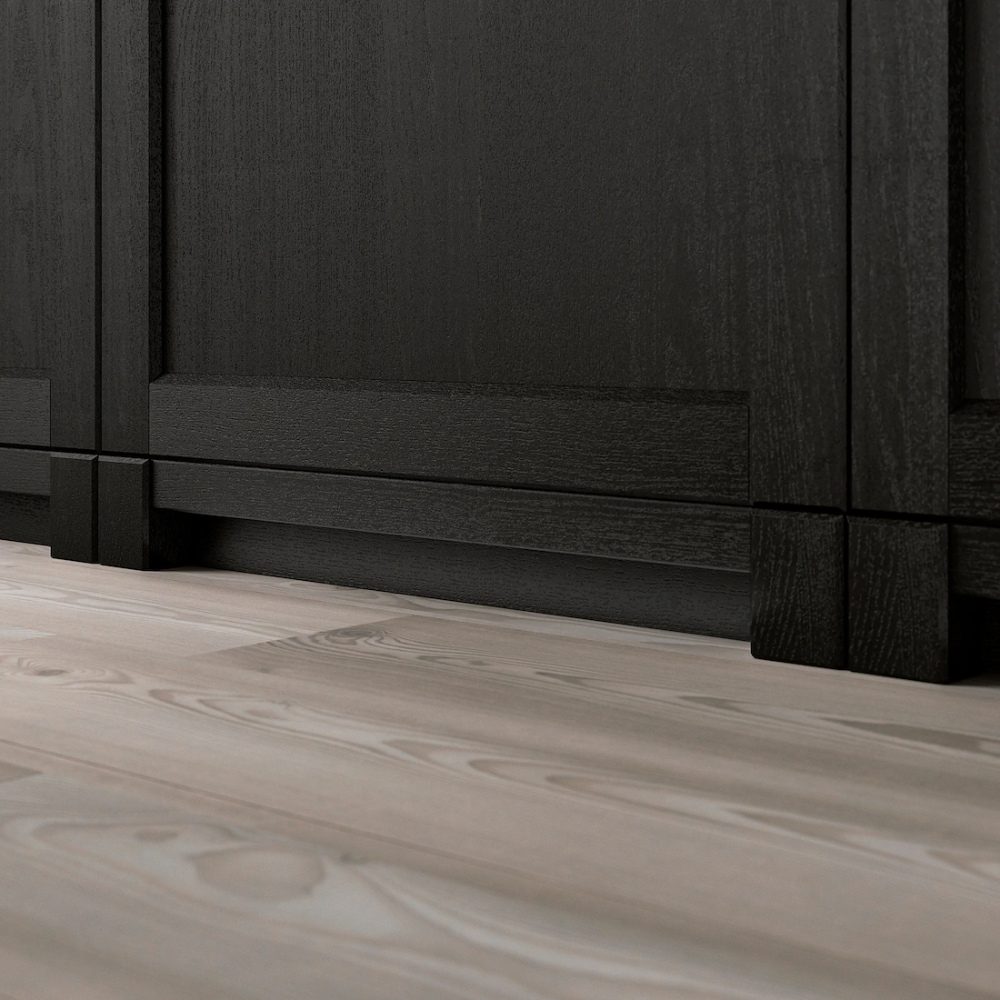 LERHYTTAN Dekorativ sokkellist - svartbeiset - IKEA