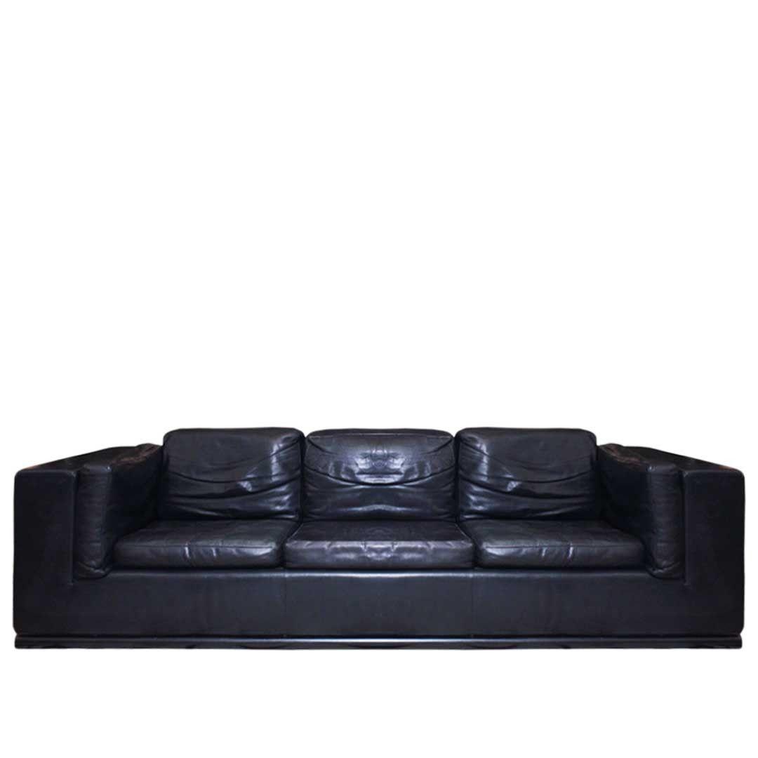 de sede switzerland black leather sofa at decornyc consignment