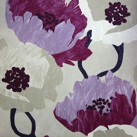 Modern Orange Floral Upholstery Fabric Drapery By Popdecorfabrics