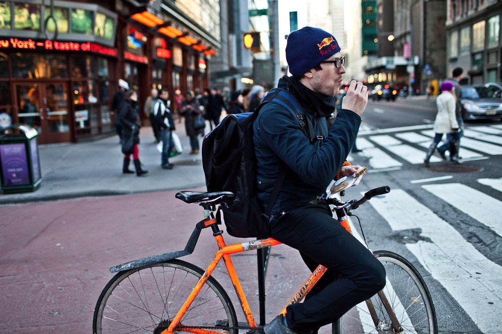 Bike Messengers Pedal Past Bandwidth In Data Race Bike Messenger