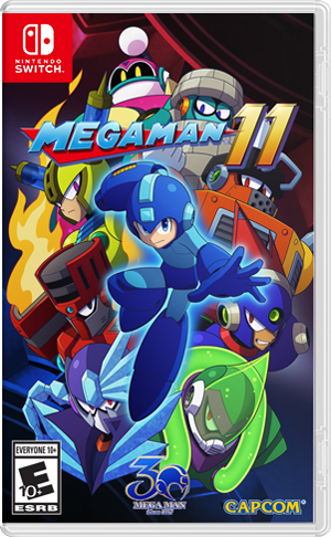 Mega Man 11 Box Art Mega Man Nintendo Switch Games Nintendo Switch